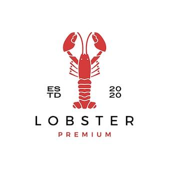 Hummer-langustenfisch-meeresfrüchte-logo-symbolillustration