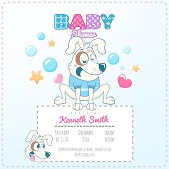 Hund baby dusche thema einladung vorlage