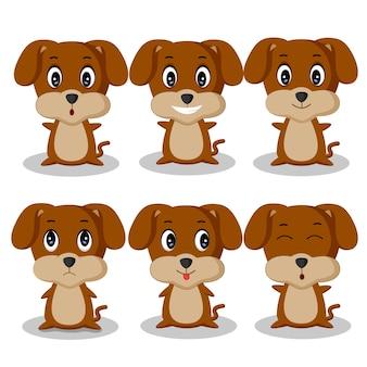 Hund cartoon zeichensatz