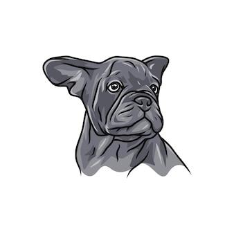 Hund der französischen bulldogge - vektorlogo / ikonenillustrationsmaskottchen