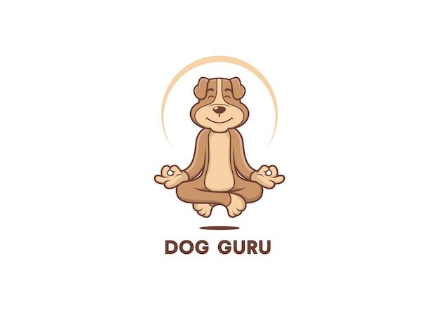 Hund guru maskottchen logo vektor