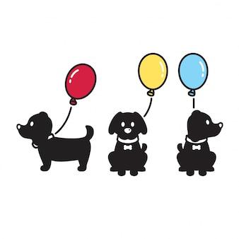 Hund mit ballon