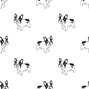 Hund nahtlose muster franchise bulldogge cartoon