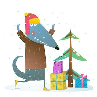 Hund oder wolf feiern winterferien