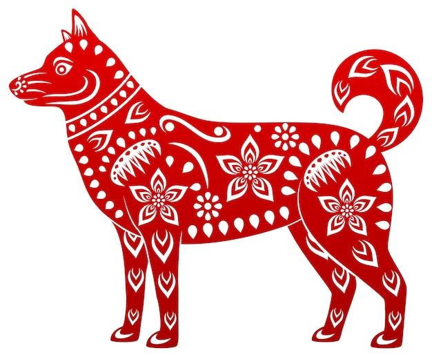 Hund, symbol des chinesischen neuen jahres