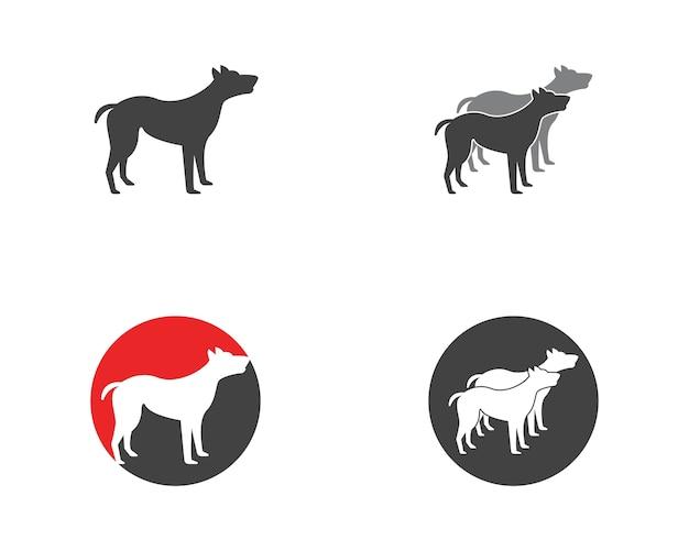Hund symbol logo vorlage