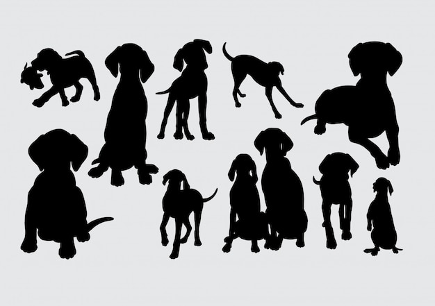 Hund tier silhouette