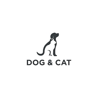Hund und katze logo design