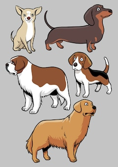 Hunde-vektor-sammlung