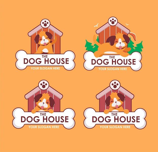 Hundehaus logo maskottchen pack