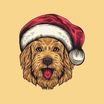 Hundehut santa illustration