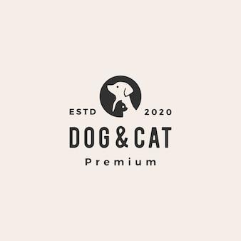 Hundekatze haustier vintage logo