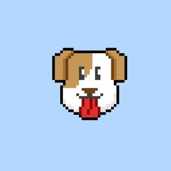 Hundekopf im pixel-art-stil