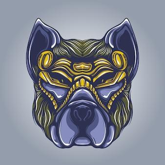 Hundekopf kunstwerk illustration