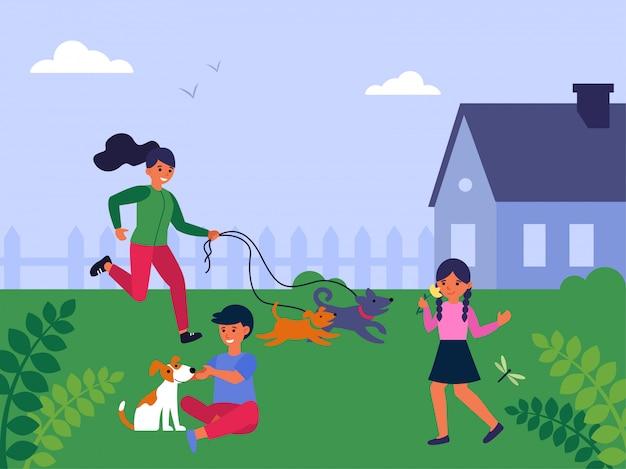 Hundeliebhaber und tierhalter menschen