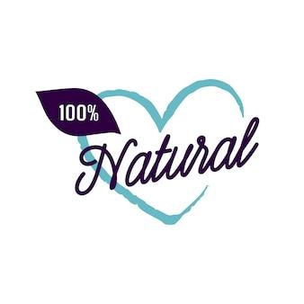Hundert prozent natürliche beschriftung
