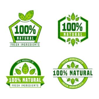 Hundert prozent natürliche etiketten verpacken