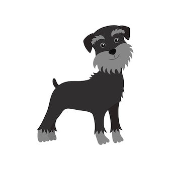 Hundeschnauzer schwarz
