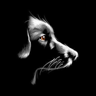 Hundevektorillustrationszusammenfassungsdesign