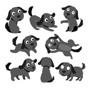 Hundezeichen-vektor-design