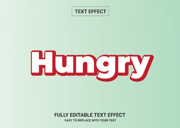 Hungriger bearbeitbarer textstileffekt