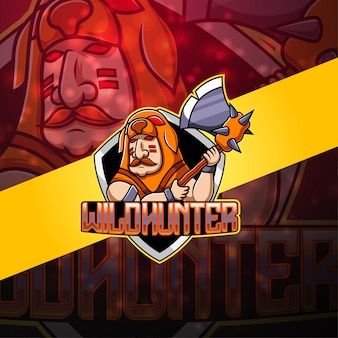 Hunter esport maskottchen logo