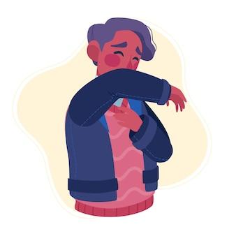Husten person illustration