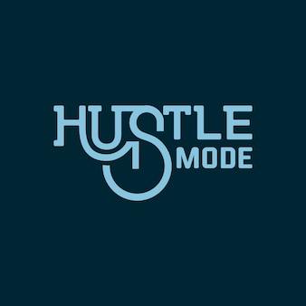 Hustle mode schriftzug