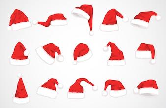 Hut Weihnachtsmann-Vektor-Design