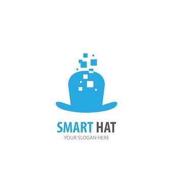 Hutlogo für unternehmen. einfaches hut-logo-ideen-design. corporate-identity-konzept. kreatives hutsymbol aus der zubehörkollektion.