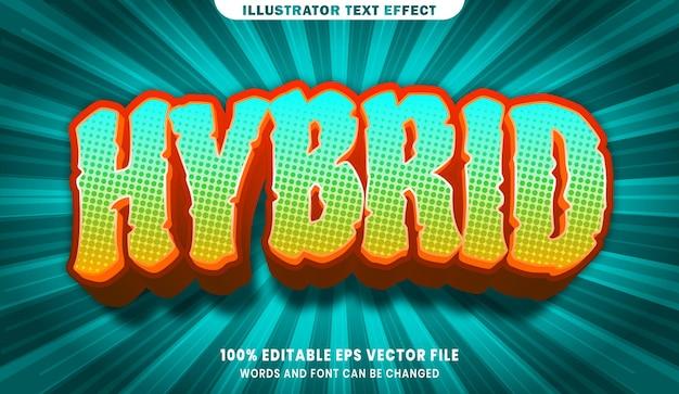 Hybrider bearbeitbarer 3d-textstileffekt