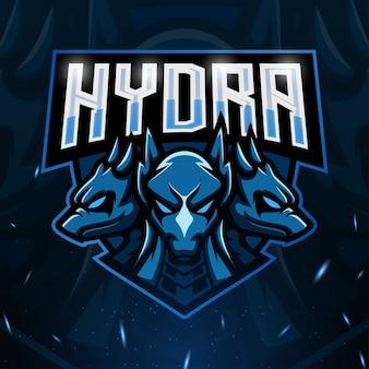 Hydra maskottchen esport illustration