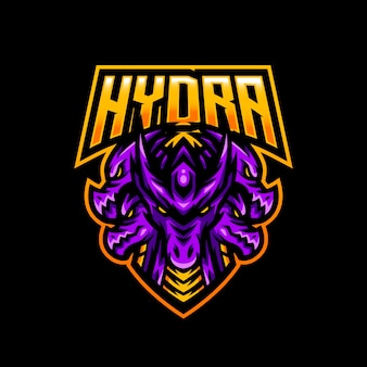 Hydra maskottchen logo esport gaming