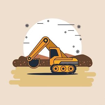 Hydraulikbagger fahrzeug