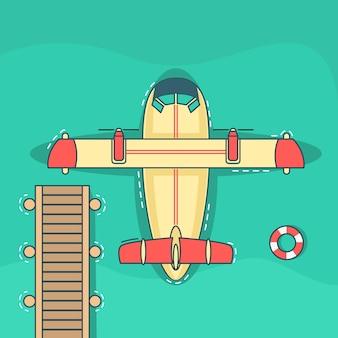 Hydroplane / wasserflugzeug illustration