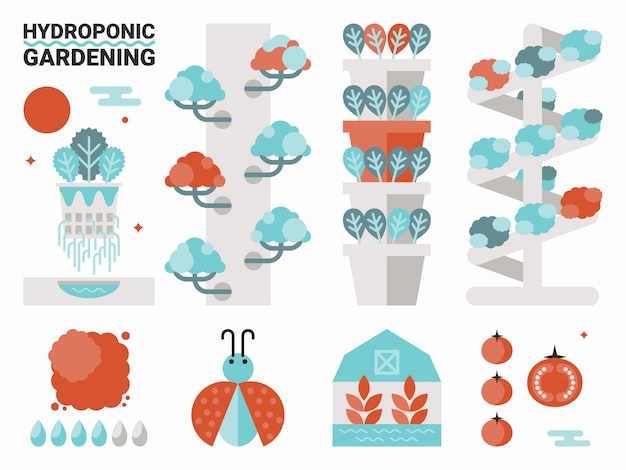 Hydroponische gartenarbeit