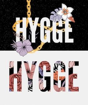 Hygge-schriftzug