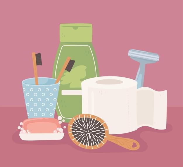 Hygiene liefert cartoon