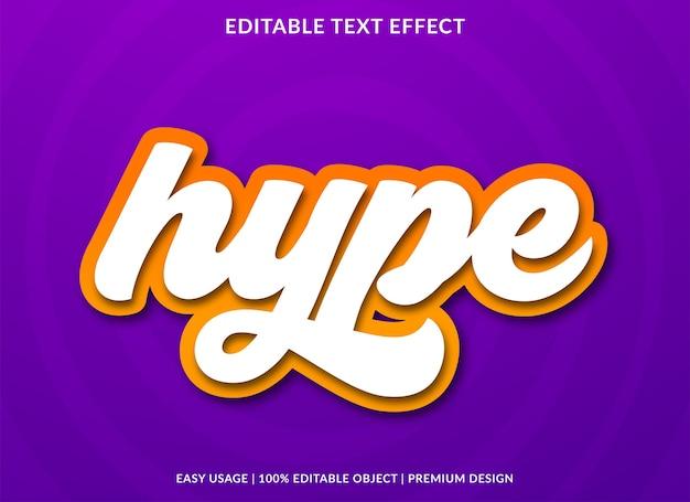 Hype-texteffekt premium-stil