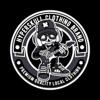 Hyperskull clothing brand abzeichen logo