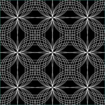 Hypnotischer hintergrund des abstrakten nahtlosen musters. vektor-illustration