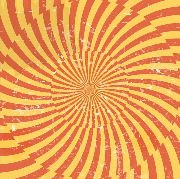 Hypnotischer hintergrund im retro-stil. vektor-illustration.