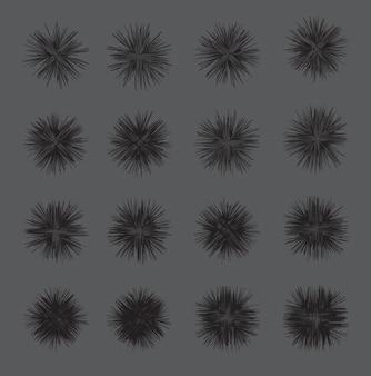 Hypnotischer schwarzweiss-hintergrund. vektor-illustration.