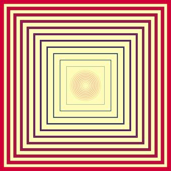 Hypnotisches geometrisches muster. kreative und elegante stilillustration