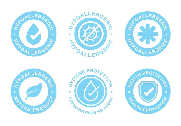 Hypoallergen getestetes etikett für empfindliches hautprodukt.