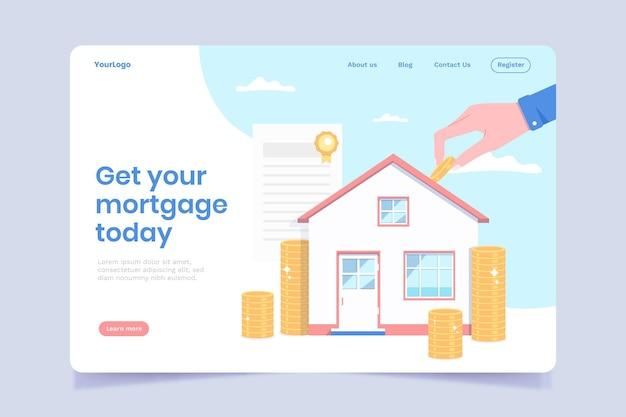 Hypotheken-landingpage-konzept
