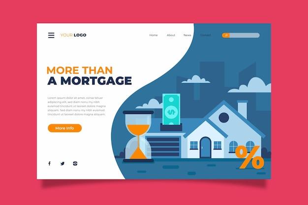 Hypotheken-landingpage-vorlage