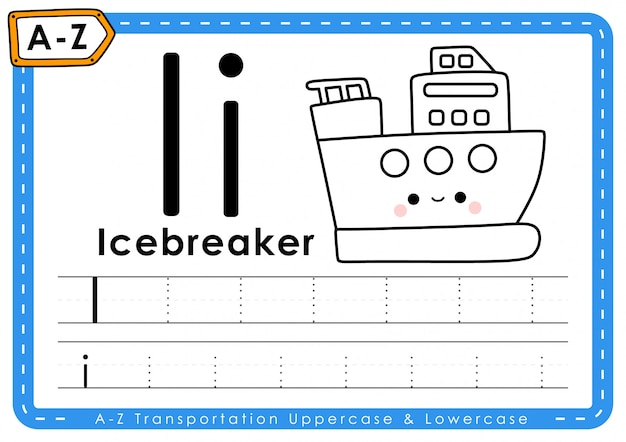 I - eisbrecher: arbeitsblatt alphabet az transportverfolgungsbuchstaben
