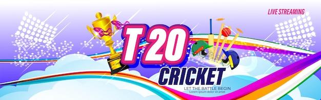 Icc men's t20 world cup cricket championship abstrakten hintergrund.