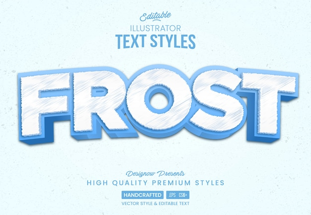 Ice frost text style